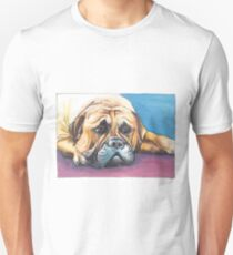I am bored.... - dog painting in pen and watercolors T-Shirt