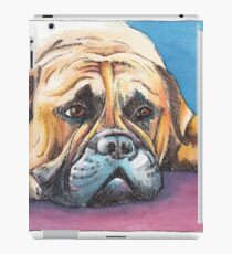 I am bored.... - dog painting in pen and watercolors iPad Case/Skin
