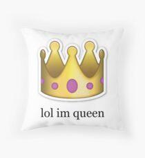 """""""lol ich bin Königin"""" Emoji Design Dekokissen"""