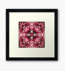 Crystal Matrix Mandala Framed Print
