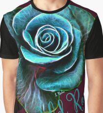 WILD ROSE - ROSE BLEUE-ROSE TURQUOISE-FLEUR Graphic T-Shirt