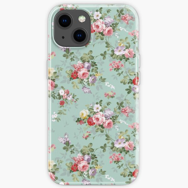 Chic elegant pink roses beautiful flowers pattern iPhone Soft Case