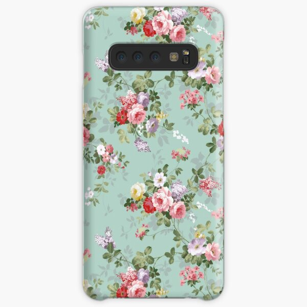 Chic elegant pink roses beautiful flowers pattern Samsung Galaxy Snap Case