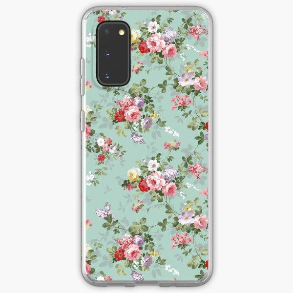 Chic elegant pink roses beautiful flowers pattern Samsung Galaxy Soft Case