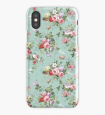 Chic elegant pink roses beautiful flowers pattern iPhone Case