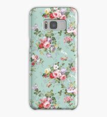 Chic elegant pink roses beautiful flowers pattern Samsung Galaxy Case/Skin