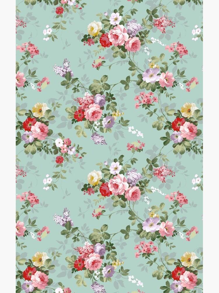 Chic elegant pink roses beautiful flowers pattern by Kicksdesign