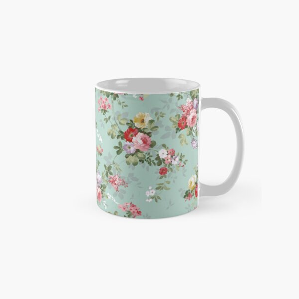 Chic elegant pink roses beautiful flowers pattern Classic Mug