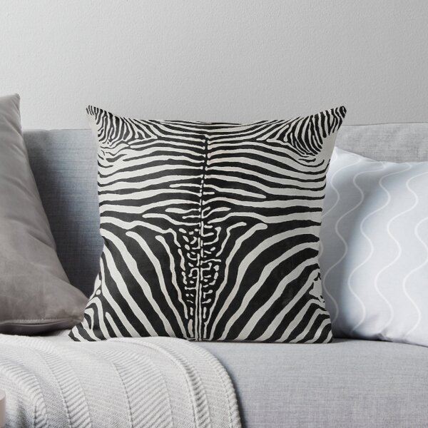 Zebra Print Stripes Skin Hide | Texture  Throw Pillow