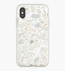 Weißer Terrazzo | Textur iPhone-Hülle & Cover