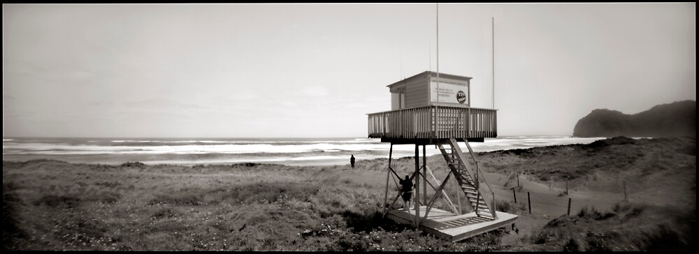 Piha Surf Tower pinhole by gldfshbob