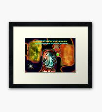 "*""Bless You""* - A Prayer done in Colloboration with Linaji Framed Print"
