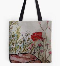 Poppy at Springer Botanical Tote Bag