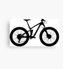 Big Black Bike | Sports Canvas Print