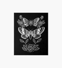Death Moths - White Print Art Board