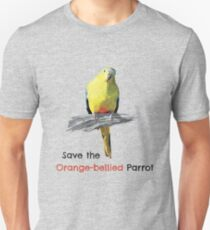 Save the Orange-bellied Parrot items (light background colours) Slim Fit T-Shirt