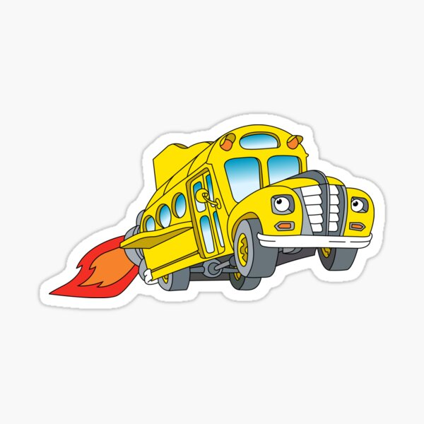 The Magic School Bus Logo Sticker