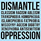 Dismantle Oppression • riotcakes Original Design • Social Justice • Political by riotcakes