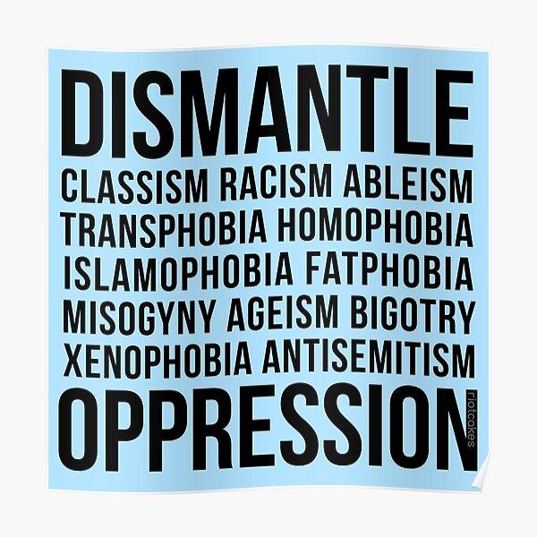Dismantle Oppression • riotcakes Original Design • Social Justice • Political Poster