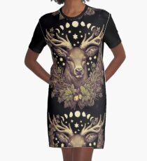 CERNUNNOS STAG Graphic T-Shirt Dress