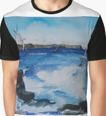 The West Rocks, Rosehearty, Aberdeenshire Graphic T-Shirt