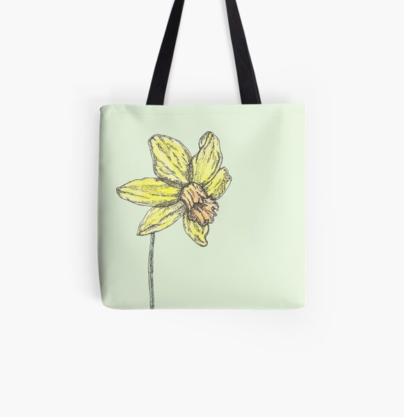 Daffodil All Over Print Tote Bag