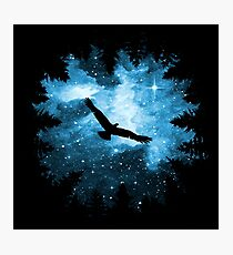 Magical Watercolor Night Photographic Print