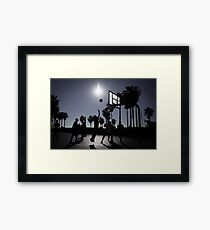 Hoops - Venice Beach Framed Print