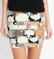 Staring Cats Mini Skirt