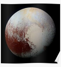 NASA Pluto Color Enhanced Variant 2 Poster