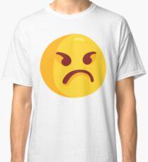 Angry Grumpy Face Emoji Classic T-Shirt