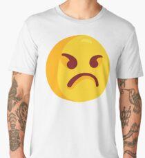 Angry Grumpy Face Emoji Men's Premium T-Shirt