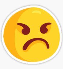 Angry Grumpy Face Emoji Sticker