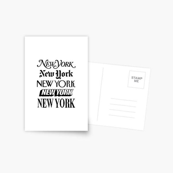 New York New York Postcard