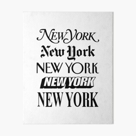 New York New York Art Board Print