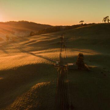 Tasmanian rolling hills, Melrose.  by Wanderlustdrone