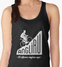"""Angliru climb """"El infierno empieza aquí"""" cycling Vuelta España Women's Tank Top"""