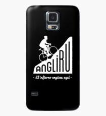 """Angliru climb """"El infierno empieza aquí"""" cycling Vuelta España Case/Skin for Samsung Galaxy"""