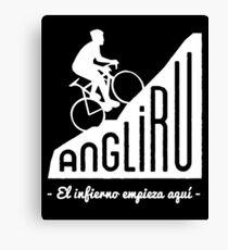 "Angliru climb ""El infierno empieza aquí"" cycling Vuelta España Canvas Print"