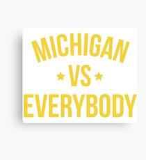 Michigan Vs Everybody (Yellow) Canvas Print