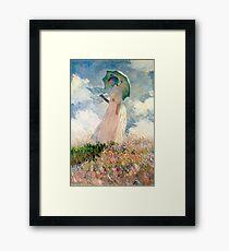 Claude Monet - Frau mit Sonnenschirm, Studie Gerahmtes Wandbild