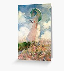 Claude Monet - Woman with a Parasol, Study Greeting Card