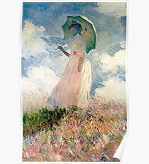 Claude Monet - Frau mit Sonnenschirm, Studie Poster