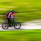 Mountain Biker by John Velocci