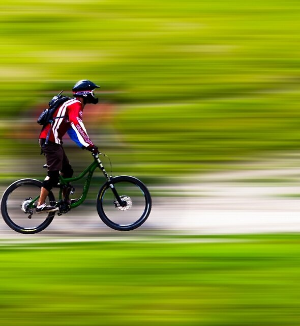 Mountain Biker by John Velocci