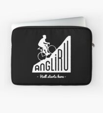 "Angliru climb ""Hell starts here"" cycling Vuelta España Laptop Sleeve"