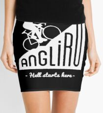 "Angliru climb ""Hell starts here"" cycling Vuelta España Mini Skirt"