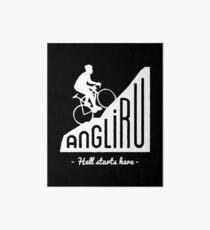 "Angliru climb ""Hell starts here"" cycling Vuelta España Art Board"