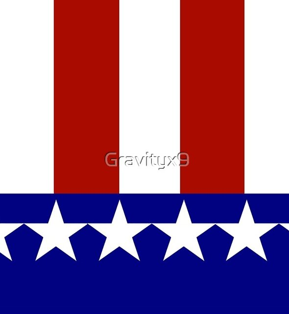Patriotic Stars and Stripes by Gravityx9