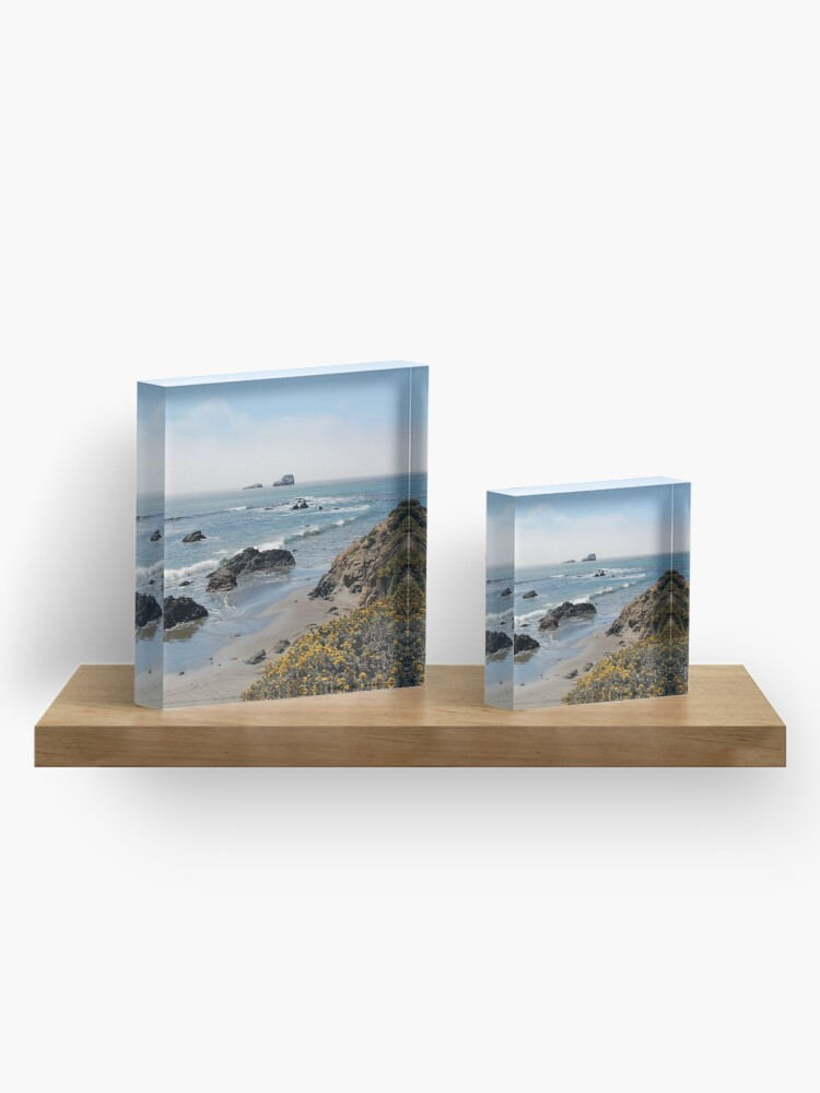 Alternate view of Fog Rolling Coastal Acrylic Block